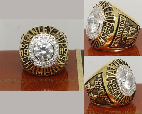 1985 NHL Championship Rings Edmonton Oilers Stanley Cup Ring