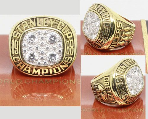 1988 NHL Championship Rings Edmonton Oilers Stanley Cup Ring