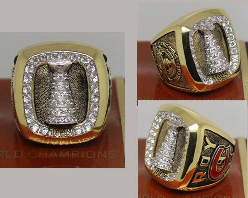 1993 NHL Championship Rings Montreal Canadiens Stanley Cup