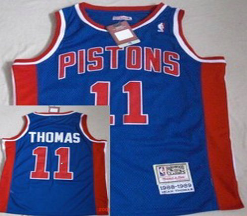 Philadelphia Sixers #11 Thomas Blue Throwback Swingman Jersey