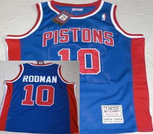 Philadelphia Sixers #10 Rodman Blue Throwback Swingman Jersey