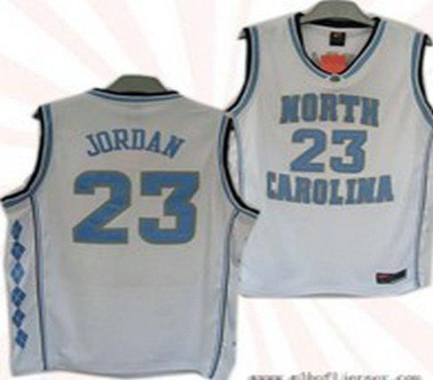 North Carolina #23 Tar Heels Michael Jordan Authentic White Jersey