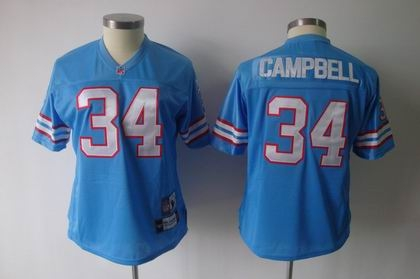 2011 women team jersey houston oilers 34 earl campbell light blue mitchellandness jersey