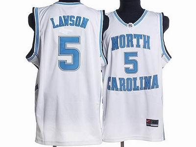 North Carolina #5 Ty Lawson Embroidered College Jerseys White