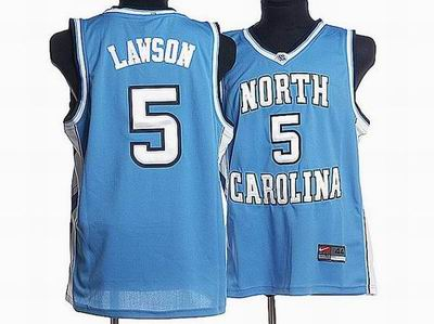 North Carolina #5 Ty Lawson Embroidered College Jerseys blue