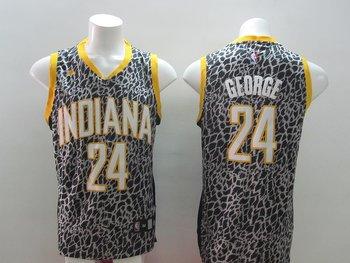 2014 Women NBA Indiana Walker 24 GEORGE Leopard grain fashion jerseys