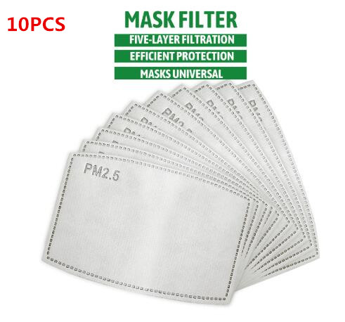 5 Layers PM2.5 Filter Paper Activated Carbon Anti Haze Anti Dust Air Face Mask (10PCS)