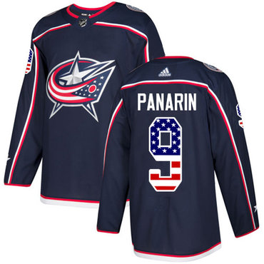 Adidas Blue Jackets #9 Artemi Panarin Navy Blue Home Authentic USA Flag Stitched Youth NHL Jersey