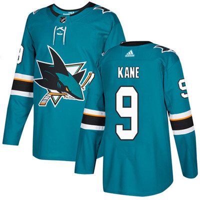 Adidas Sharks #9 Evander Kane Teal Home Authentic Stitched Youth NHL Jersey