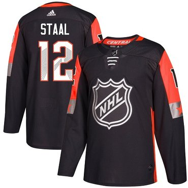 Adidas Wild #12 Eric Staal Black 2018 All-Star Central Division Authentic Stitched NHL Jersey
