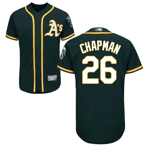 Athletics #26 Matt Chapman Green Flexbase Authentic Collection Stitched Baseball Jersey