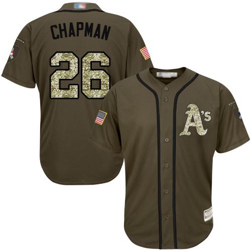 Athletics #26 Matt Chapman Green Salute to Service Stitched Youth Baseball Jersey