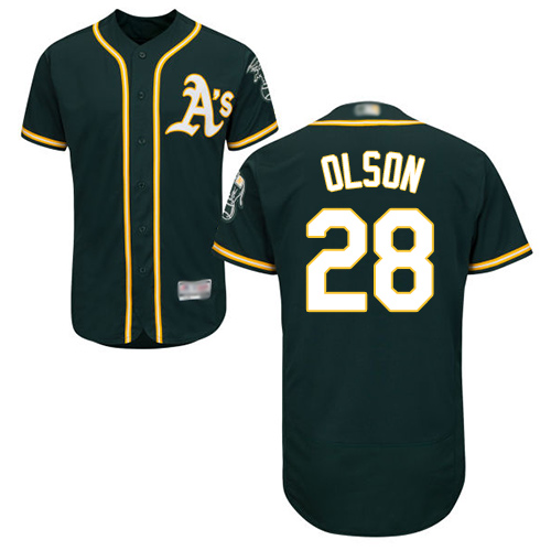 Athletics #28 Matt Olson Green Flexbase Authentic Collection Stitched Baseball Jersey