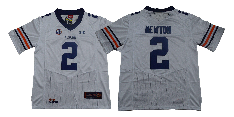 Auburn Tigers 2 Cam Newton White College Football Jersey