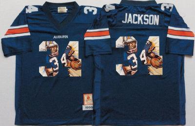 Auburn Tigers 34 Bo Jackson Navy Portrait Number College Jersey