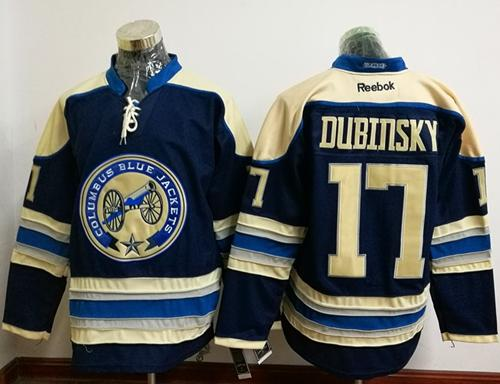 Blue Jackets #17 Brandon Dubinsky Navy Blue Alternate Stitched NHL Jersey