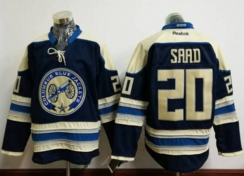 Blue Jackets #20 Brandon Saad Navy Blue Alternate Stitched NHL Jersey