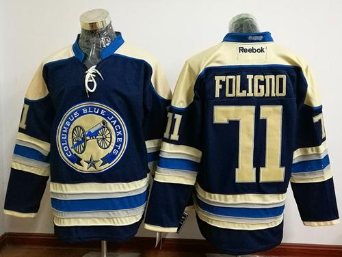 Blue Jackets #71 Nick Foligno Navy Blue Alternate Stitched NHL Jersey