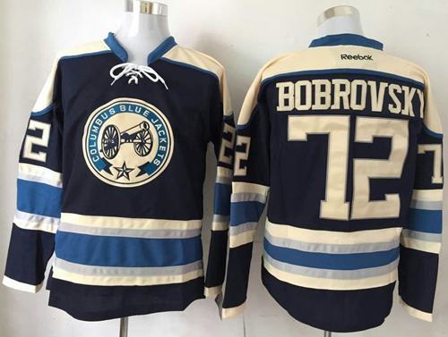 Blue Jackets #72 Sergei Bobrovsky Navy Blue Alternate Stitched NHL Jersey