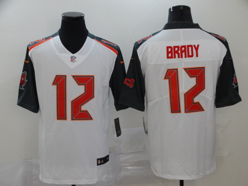 Buccaneers 12 Tom Brady White Vapor Untouchable Limited Jersey