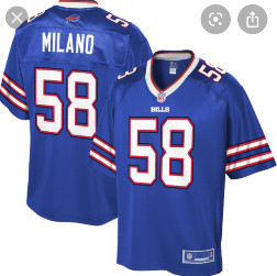 Buffalo bills #58 Milano Blue vapor limited jersey