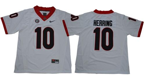 Bulldogs #10 Malik Herring White Limited Stitched NCAA Jersey$49.00$22.50