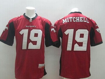 Calgary Stampeders #19 Bo Levi Mitchell Red Stitched CFL Jersey