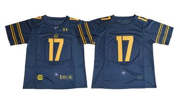 California Golden Bears #17 Navy College Football Jersey