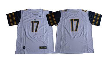 California Golden Bears #17 White College Football Jersey