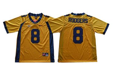 California Golden Bears 8 Aaron Rodgers Gold College Football Jersey