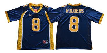 California Golden Bears 8 Aaron Rodgers Navy College Football Jersey