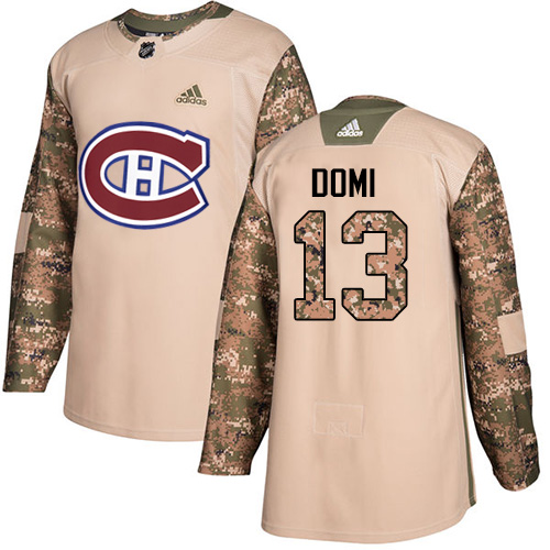 Canadiens #13 Max Domi Camo Authentic 2017 Veterans Day Stitched Hockey Jersey