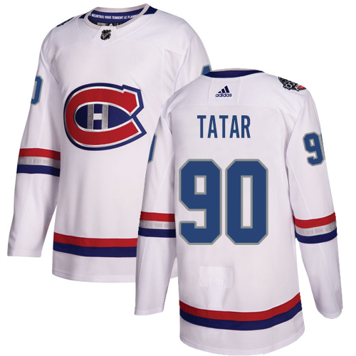 Canadiens #90 Tomas Tatar White Authentic 2017 100 Classic Stitched Hockey Jersey
