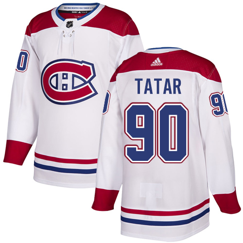 Canadiens #90 Tomas Tatar White Road Authentic Stitched Hockey Jersey