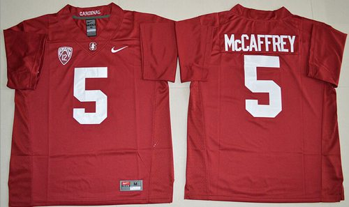 Cardinal #5 Christian McCaffrey Red Stitched NCAA Jersey