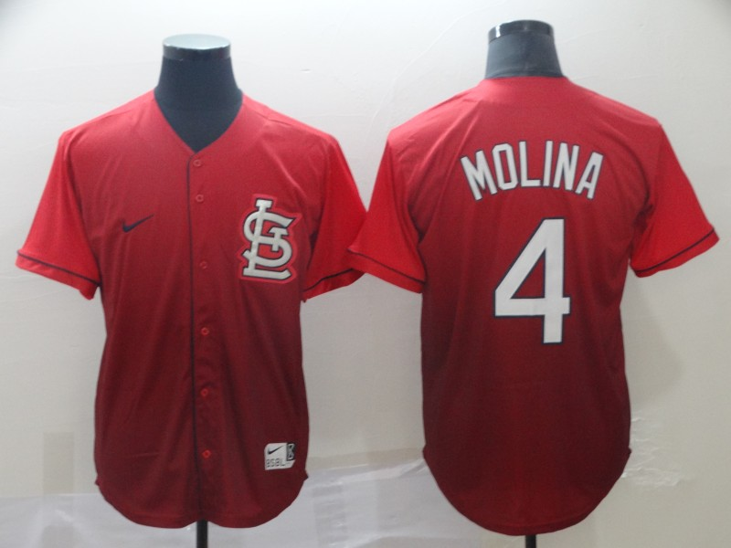 Cardinals 4 Yadier Molina Red Drift Fashion Jersey