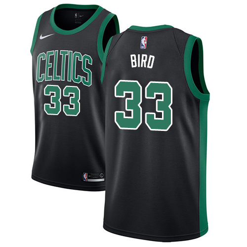 Celtics #33 Larry Bird Black Basketball Swingman Statement Edition Jersey