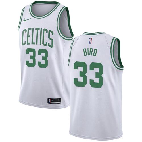 Celtics #33 Larry Bird White Basketball Swingman Association Edition Jersey