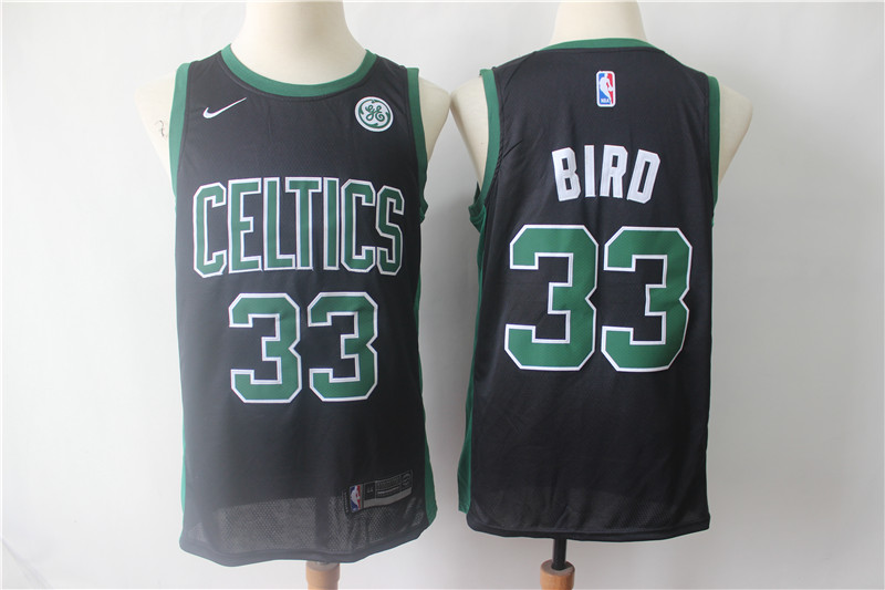 Celtics 33 Larry Bird Black Nike Swingman Jersey