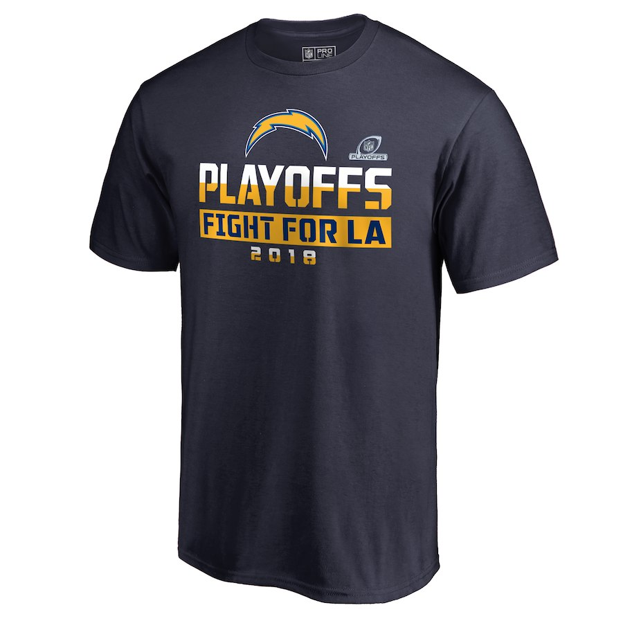 Chargers Navy 2018 NFL Playoffs Fight Men's T-Shirt