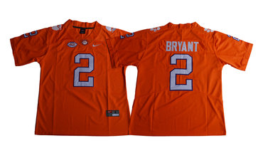 Clemson Tigers 2 Kelly Bryant Orange College Football Jersey