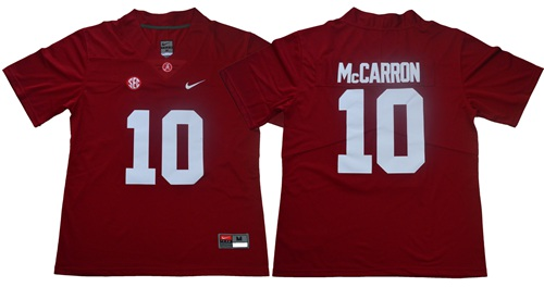 Crimson Tide #10 AJ McCarron Red Limited Stitched NCAA Jersey