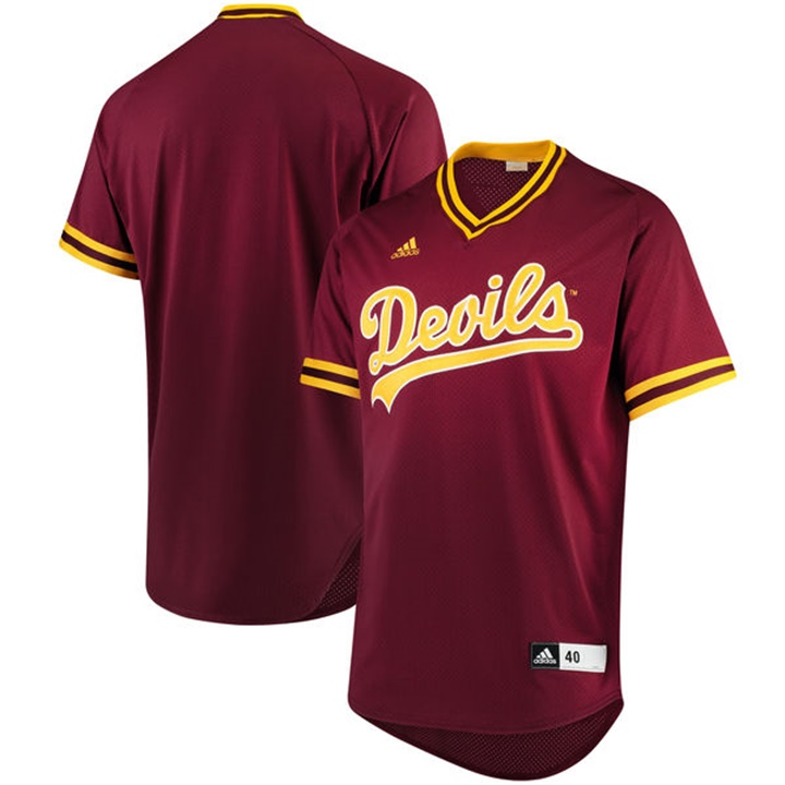 Custom Arizona State Sun Devils Maroon NCAA Baseball Jersey