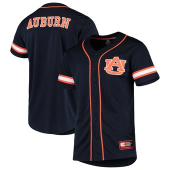 Custom Colosseum Auburn Tigers Navy Play Ball Baseball Jersey