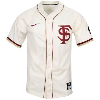 Custom Florida State Seminoles Tan College Baseball Jersey