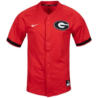 Custom Georgia Bulldogs Red Vapor Untouchable Elite Full-Button Replica Baseball Jersey