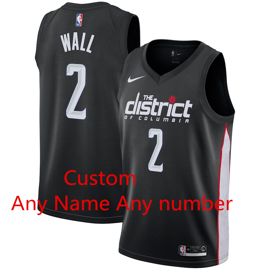 Custom Nike Wizards Black 2018-19 City Edition Nike Swingman Jersey