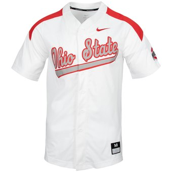 Custom Ohio State Buckeyes Scarlet College Baseball Jersey