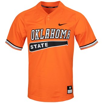Custom Oklahoma State Cowboys Orange College Baseball Jersey.