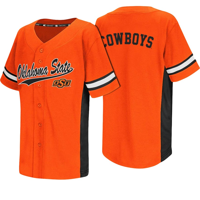 Custom Oklahoma State Cowboys Orange College Baseball Jersey